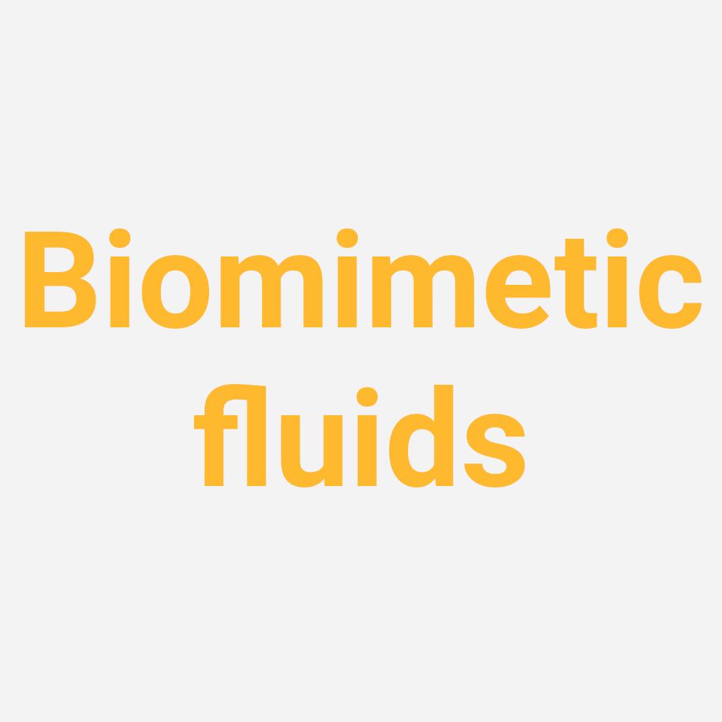 Development of biomimetic designer fluids for biomedical applications